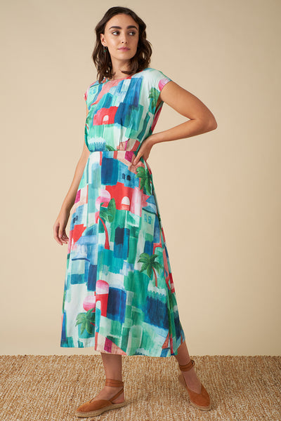 Elodie Marrakech Landscape Dress