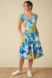 Emily and Fin | Florence Blue Asilah Floral Dress | Womens Dress