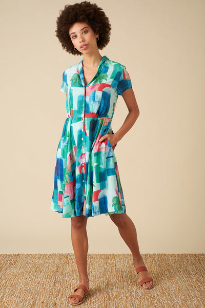 Hailey Marrakech Landscape Shirt Dress