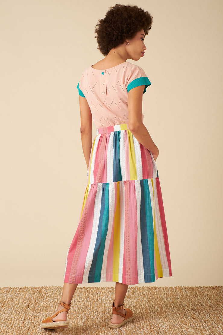 Iona Rainbow Stripe Skirt