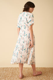 Jenna Azrou Cedar Monkey Wrap Dress