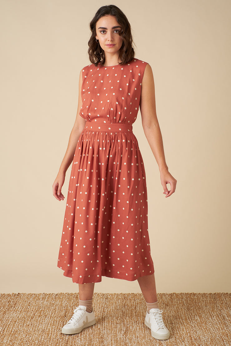 Lea Desert Rose Dot Dress