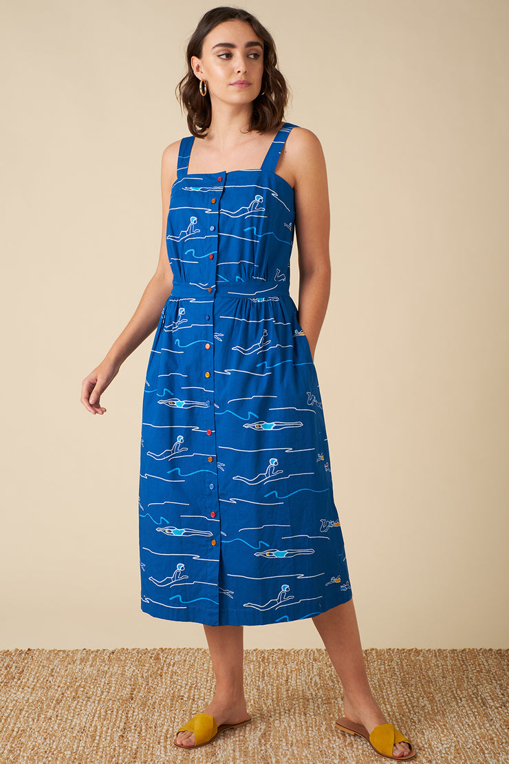 Liana Blue Divers Dress
