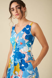 Emily and Fin | Margot Blue Asilah Floral Dress | Womens DressEmily and Fin | Margot Blue Asilah Floral Dress | Womens Dress