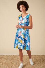 Emily and Fin | Scarlett Blue Asilah Floral Dress | Womens summer dress | SS20