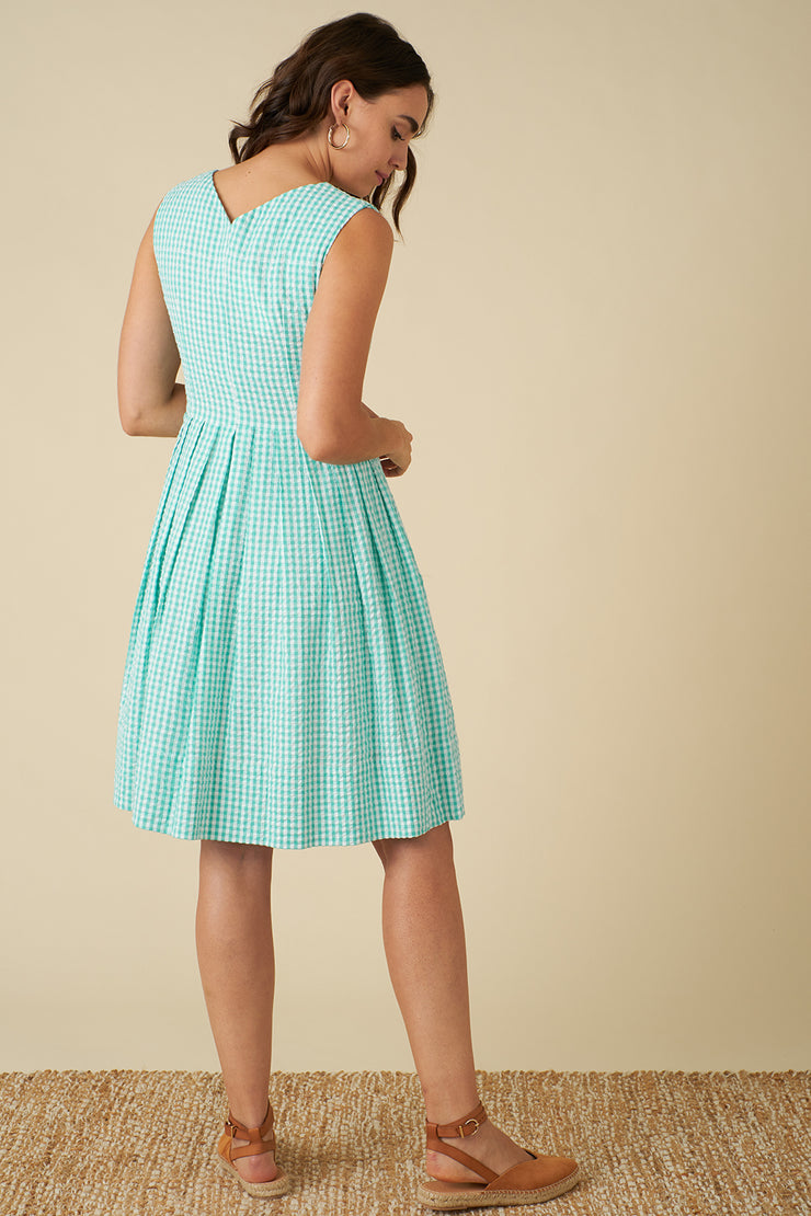 Scarlett Mint Gingham Dress