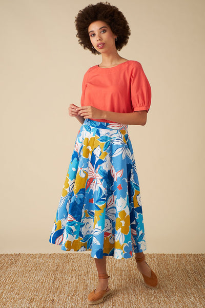 Emily and Fin | Sandy Blue Asilah Floral Skirt | Womens skirt