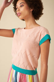 Willow Pink Knit Top