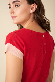 Willow Red Knit Top