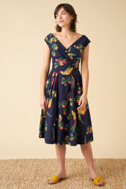 Florence Playful Parrots Occasion Dress
