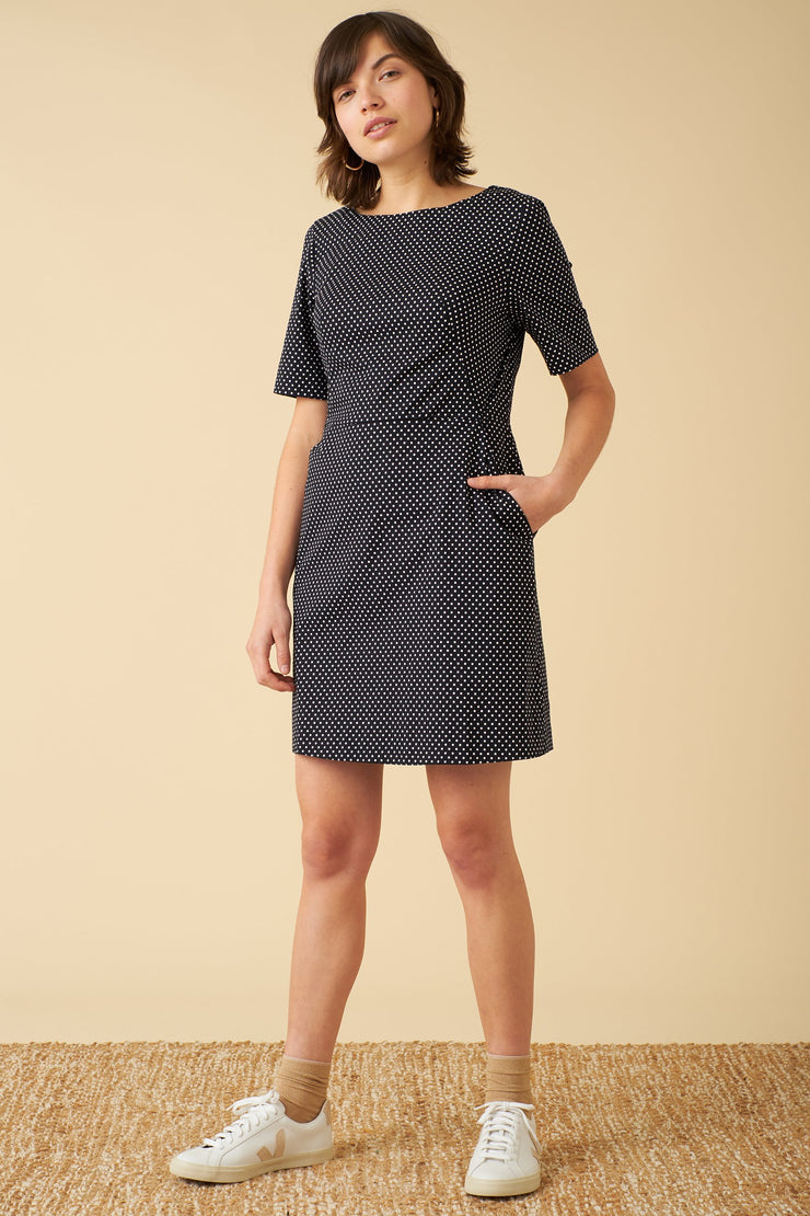 Polka Dot Print | Shift Dress | Women's Dress | Emily and fin