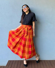 Jemima Heatwave Check Skirt