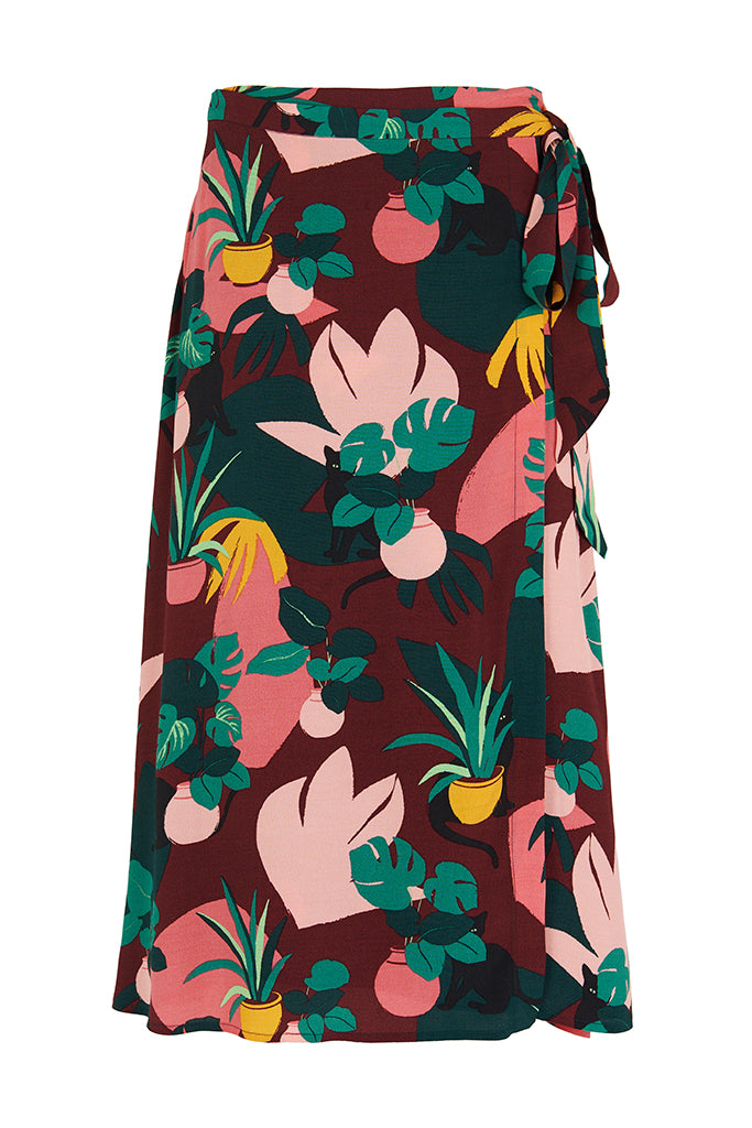 Jenna Medina Cat Wrap Skirt