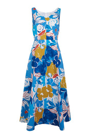 Emily and Fin | Margot Blue Asilah Floral Dress | Womens Dress