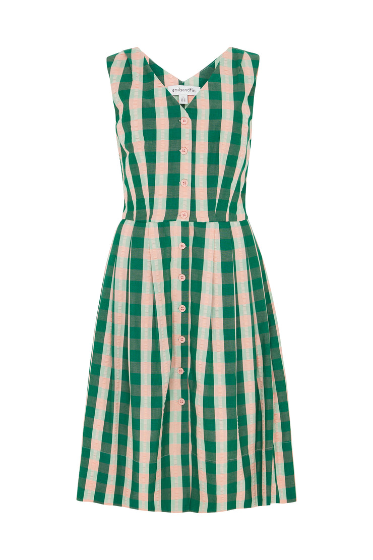 Scarlett Dress Botanical Plaid Dress