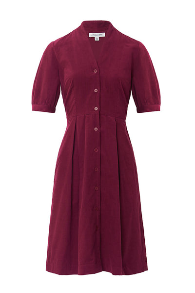 Stella Boysenberry Cord Shirt Dress