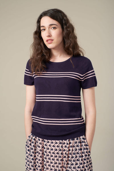 Bea Navy Stripe Jumper