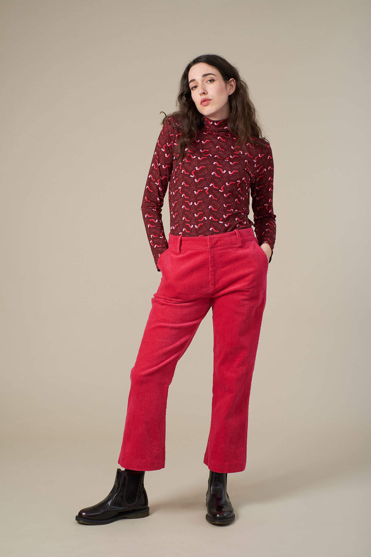 Beth Pink Cord Trouser