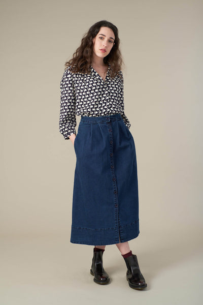 Brianna Denim Midi Skirt