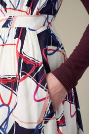 New Lucy Abstract Handbag Dress