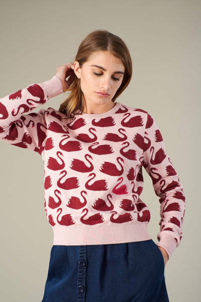 Blush Swan Jumper