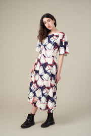 Suzanna Abstract Handbag Midi Dress