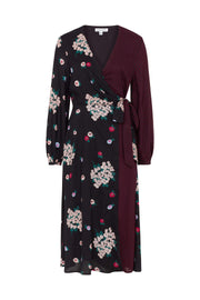 Luna Floral Mix Wrap Dress