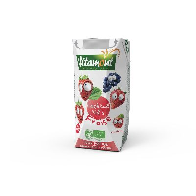 Jus Cocktail Kid S Fraise 20cl Vitamont
