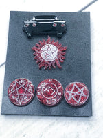Supernatural Sigils Resin Pin Set