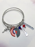 Winter Soldier Captain America Inspired Best Friend Bracelets