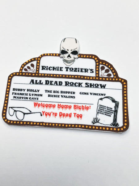 Richie Tozier All Dead Rock Show Pin or Earrings