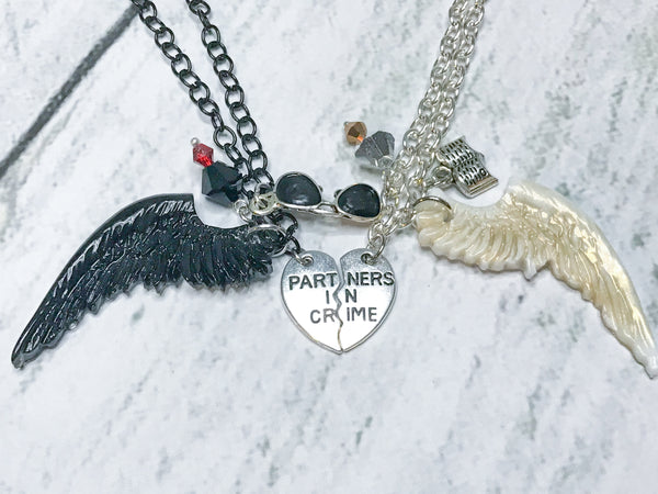 Crowley and Aziraphale Bff Necklace