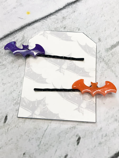 Halloween Bat Hair Pins