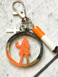Constantine Resin Circle Key Chain