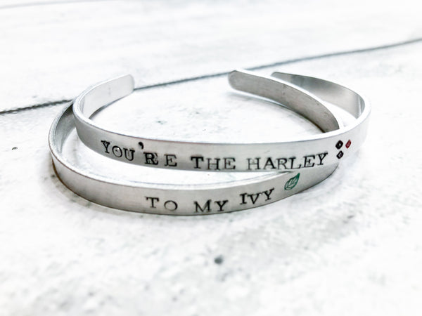 Harley to My Ivy Bff or Couples Bracelets