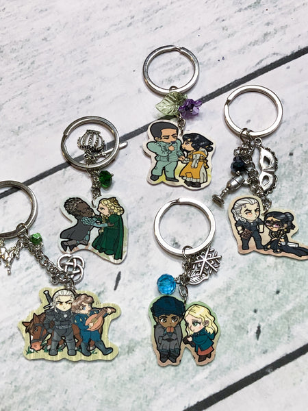 Witcher Couples Chibi Key Chains