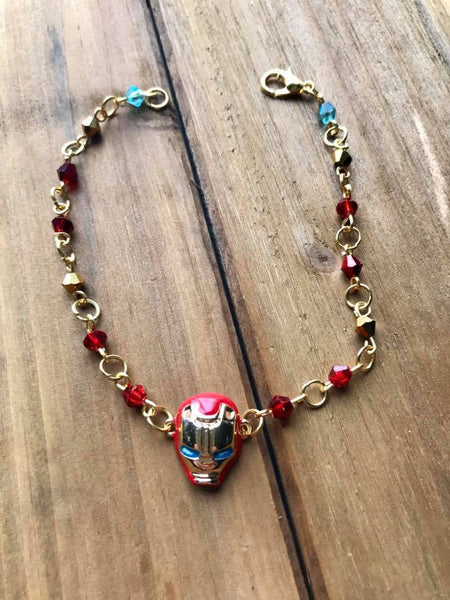 Iron Man Crystal Bracelet