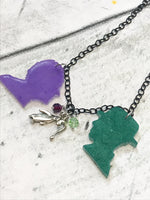 Penguin and Riddler Silhouette Necklace