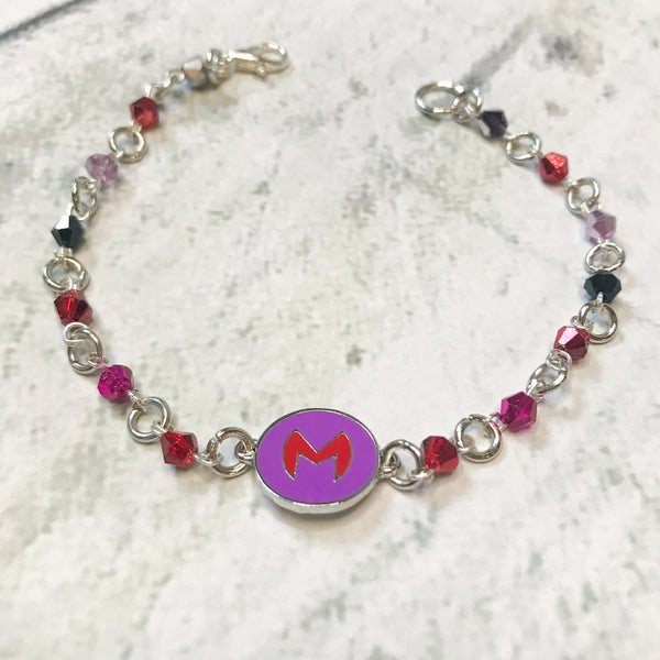 Scarlet Witch Inspired Crystal Bracelet