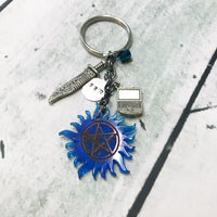 Sam or Cas Protection Key Chain