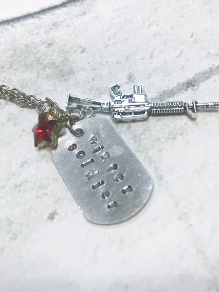 Winter Soldier Inspired Dog Tag Necklace