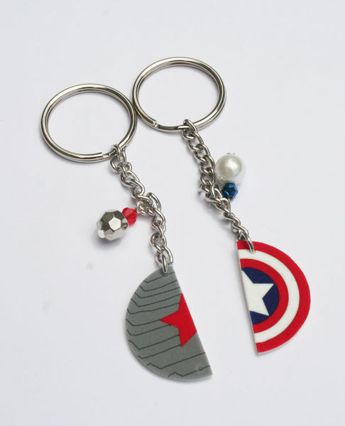 Winter Soldier Captain America Inspired Best Friend Key Chain