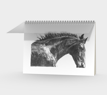 Spiral Bound notebook with horse drawing by Canadian artist Leah Pipe Great gifts for writers. Great gifts for horse lovers