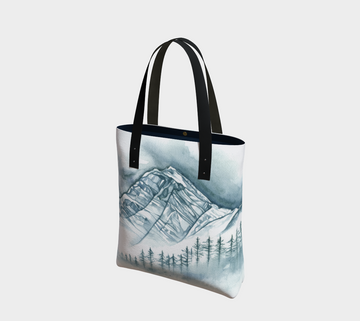 Winter Water Mountain - Tote