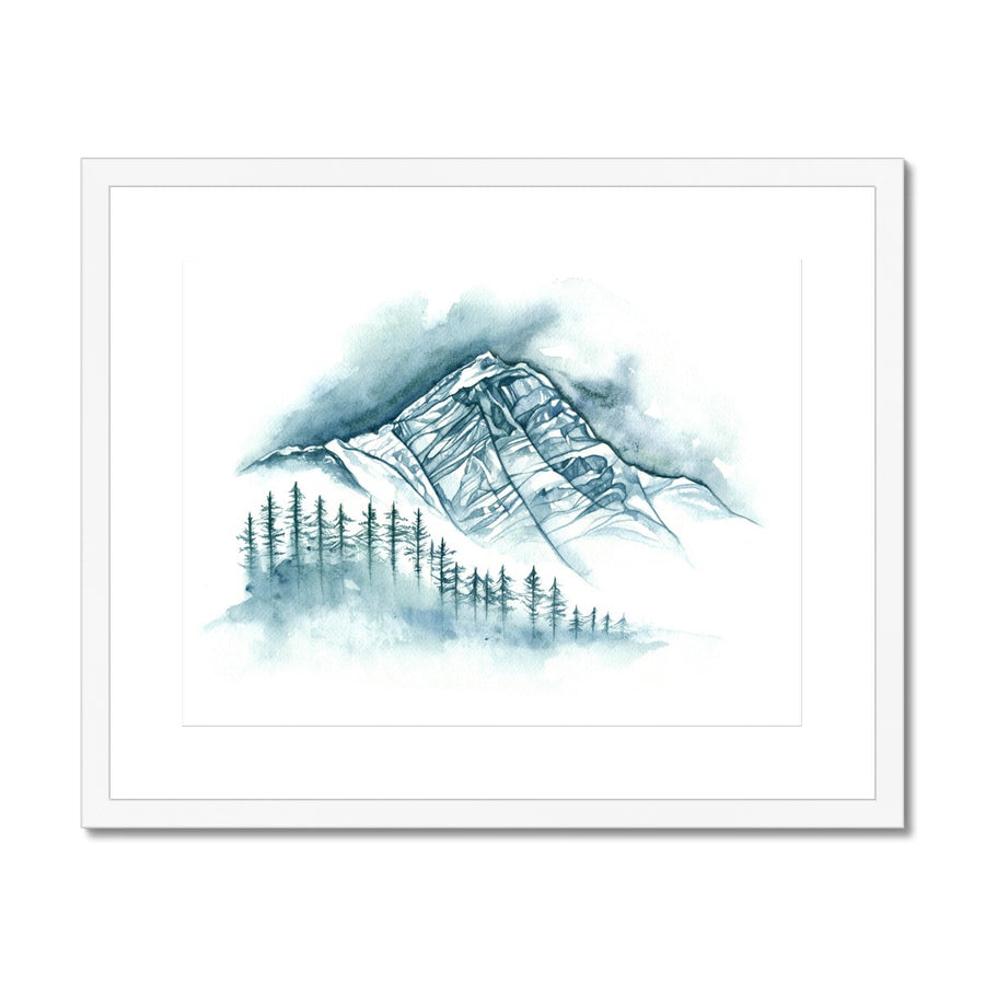 Winter Water Mountain - Framed & Mounted Print