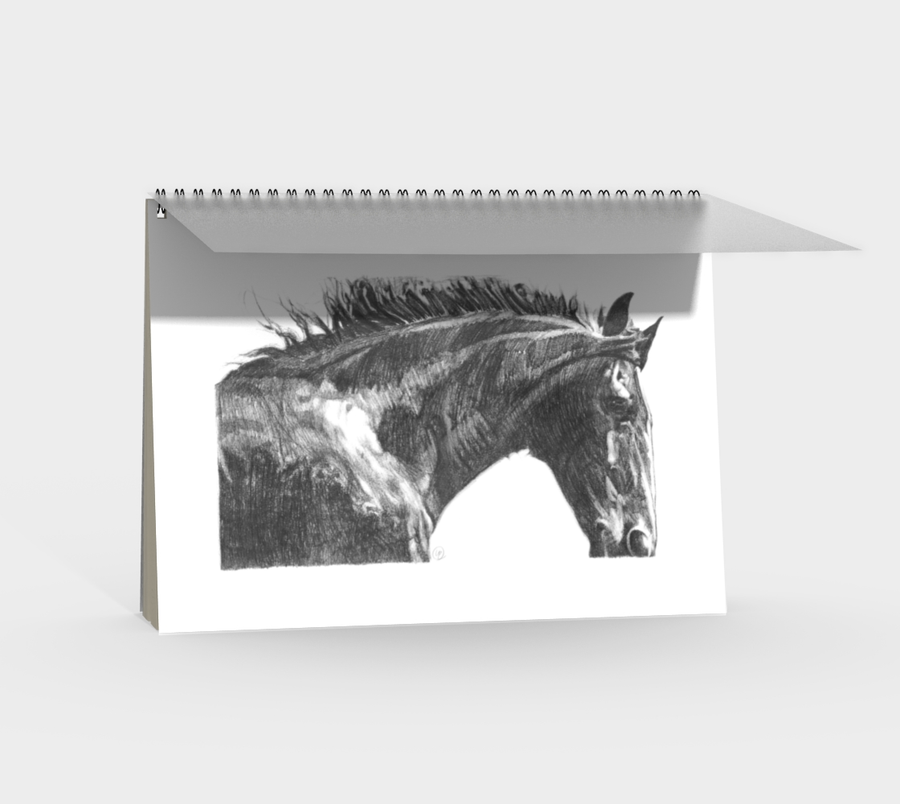The Gentle Horse - Spiral Notebook