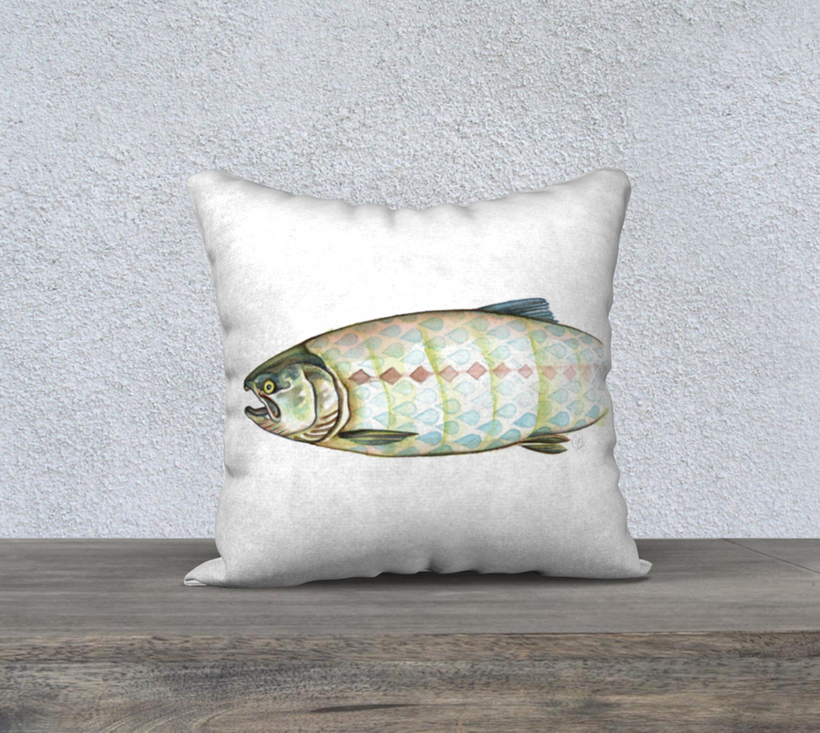 Harlequin Salmon - Pillow Cover