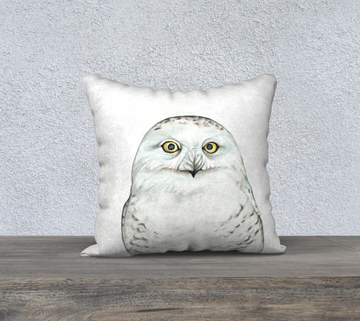 Snowy Owl - 18x18 Pillow Cover
