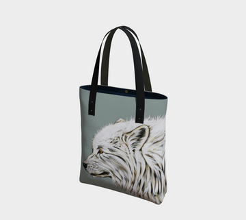 Dreaming of a White Wolf - Tote Bag