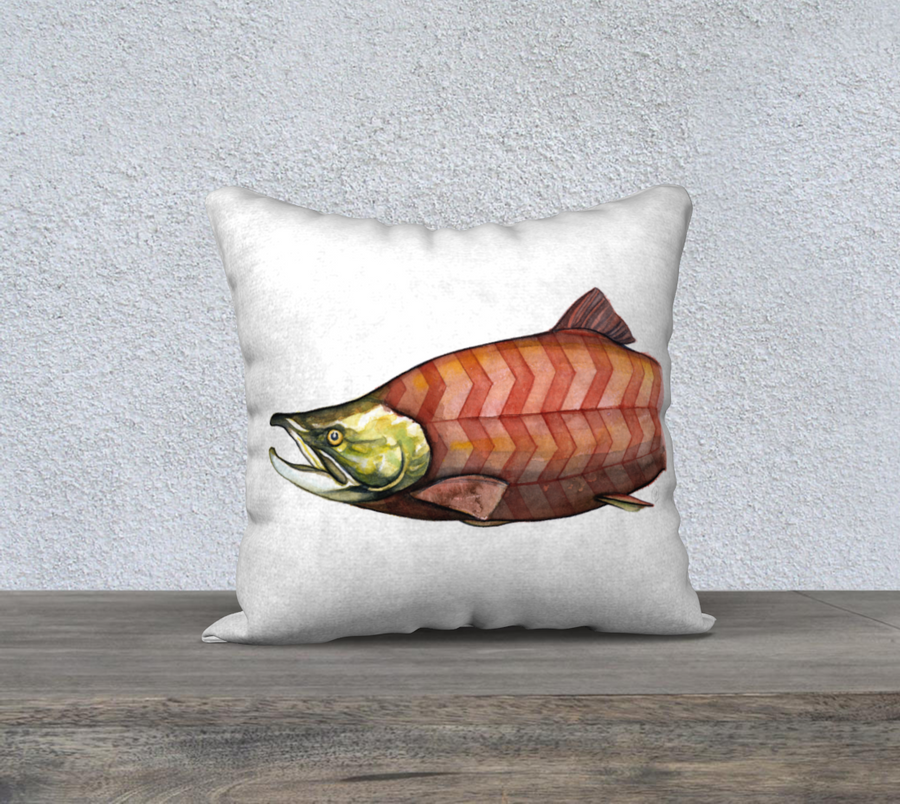 Chevron Salmon - 18'x18' Pillow Cover
